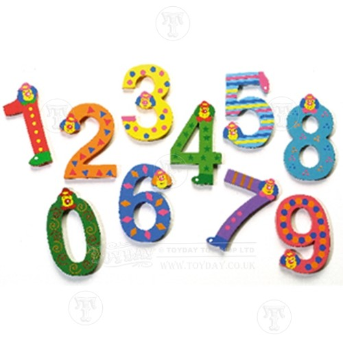 Set of Wooden Numbers 1 10