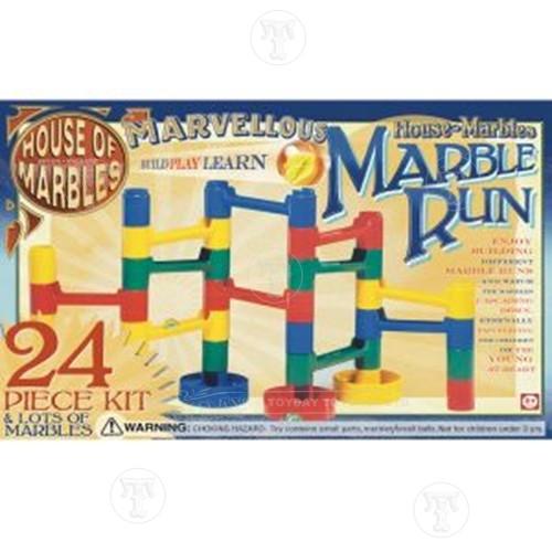 24 Piece Marble Run