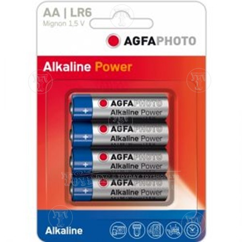Pack of 4 Agfa AA Batteries