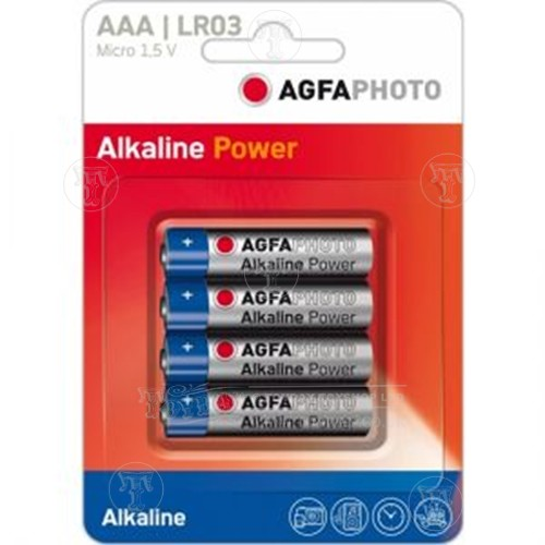 Pack of 4 Agfa AAA Bateries