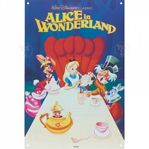 Alice in Wonderland Metal Sign