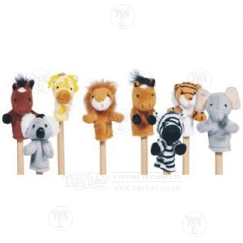 Set of Wild Animal Finger Puppets