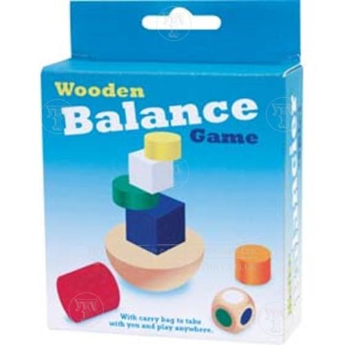 Wooden balancing game