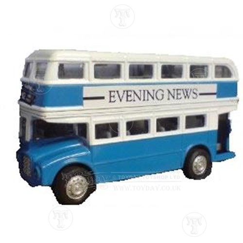 Blue London Bus Model