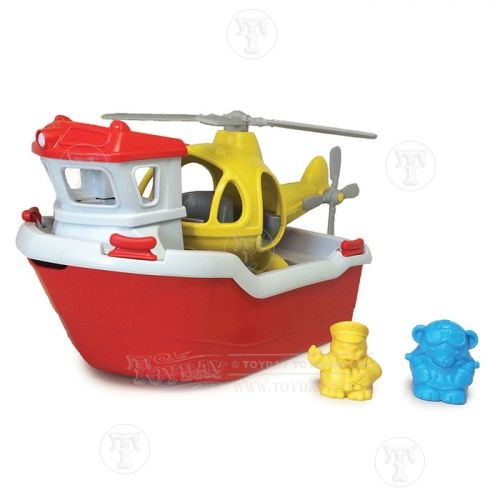 Toyday Traditional & Classic Toys Rescue Boat and Helicopter