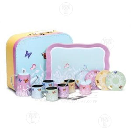 Butterfly Tin Tea Set