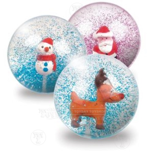 Glitter Christmas Bouncy Ball