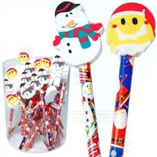 Christmas Pencil with Rubber