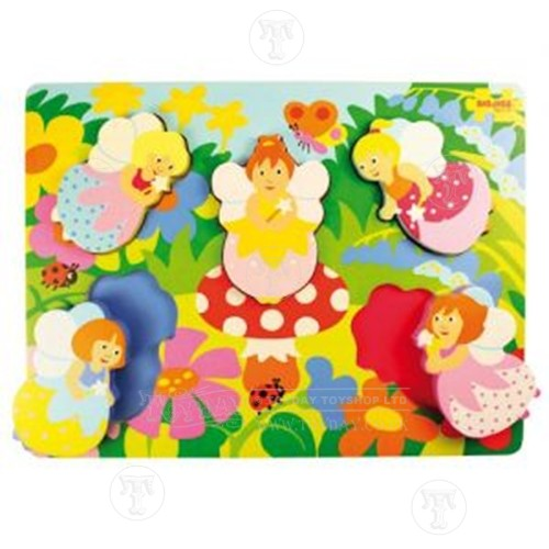 Toyday Traditional & Classic Toys  Chunky Fairy Lift Out Puzzle