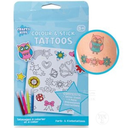 Colour and Stick Tattoos