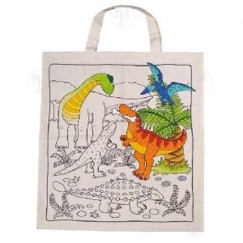 Colour a Bag Dinosaur