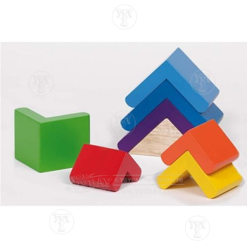 colourful stacking tower bricks