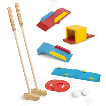Wooden Crazy Golf Set