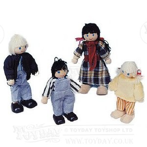 Wooden Doll Family Included