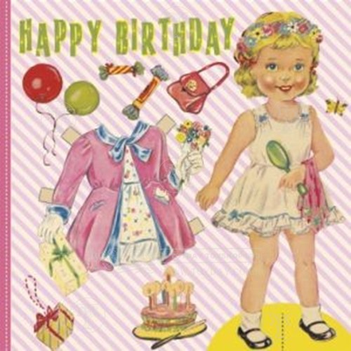 Dress Up Dolly Birthday Card