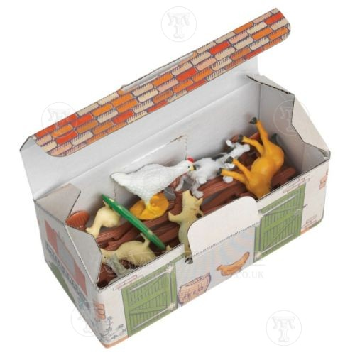 small plastic farm set