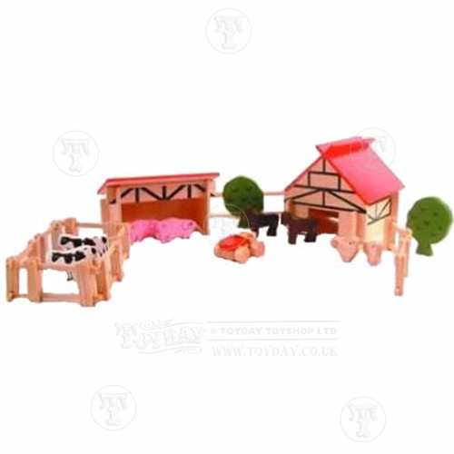 Wooden Farm Set