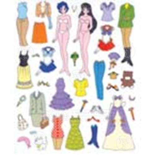 fashion doll  girls stickers