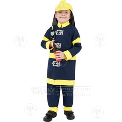 Childamp39s Fireman Fancy Dress Costume