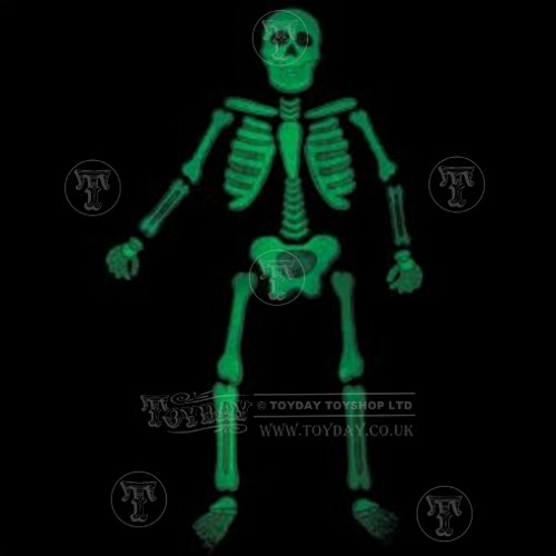 Glow Skeleton Window Sticker