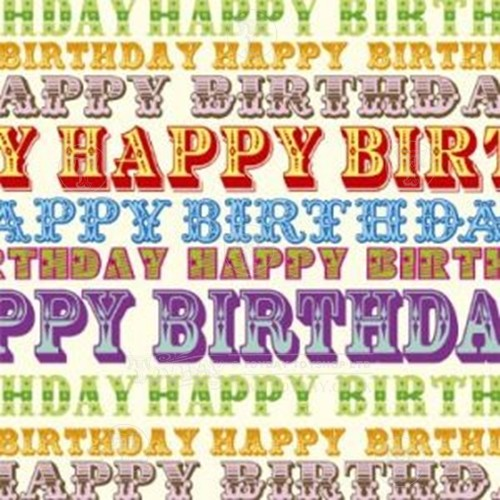 Birthday Font Gift Wrap