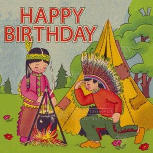 Vintage Indian Birthday card Discontinued – Indian Birthday Cards