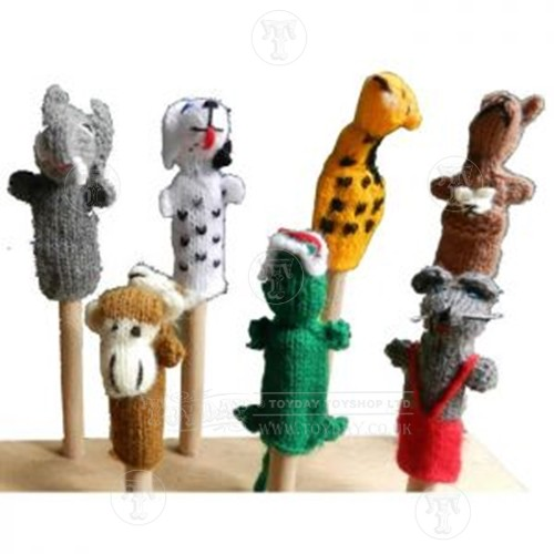 Cable Mittens Knitting Pattern : Handmade Finger Puppet - Puppets - Dolls & Plush