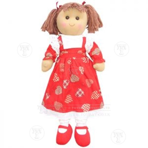Large Rag Doll in a Red Dress