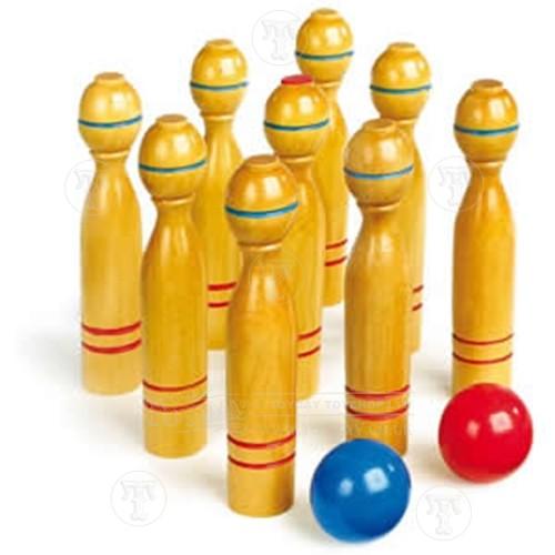 Wooden Skittles Game