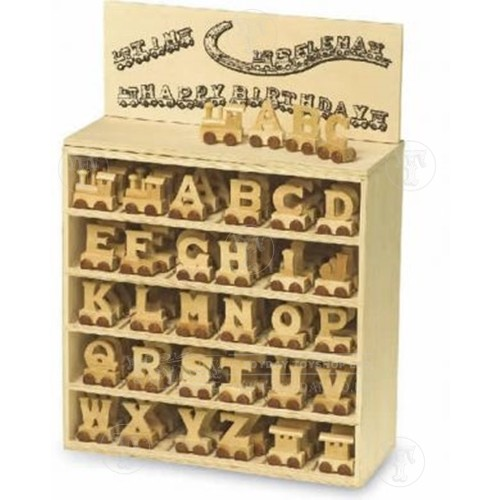 Wooden Letter Alphabet Train - Set of 28
