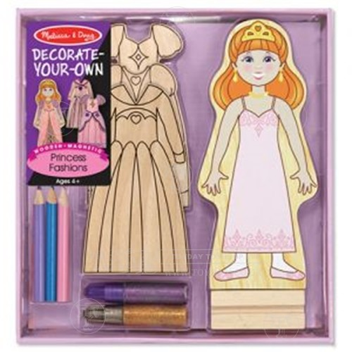 Decorate a Wooden Magnetic Dress Up Princess