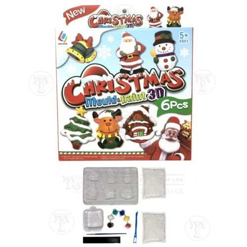 Mould and Paint Christmas Magnets