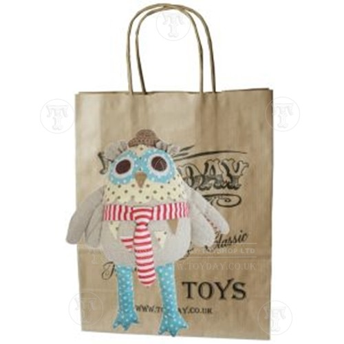 Mr Owl Patchwork Soft Toy