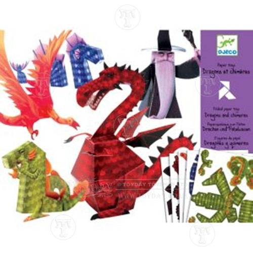 Dragons and Chimeras Paper Toys