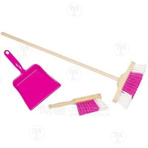 Dustpan and brush set - Pink