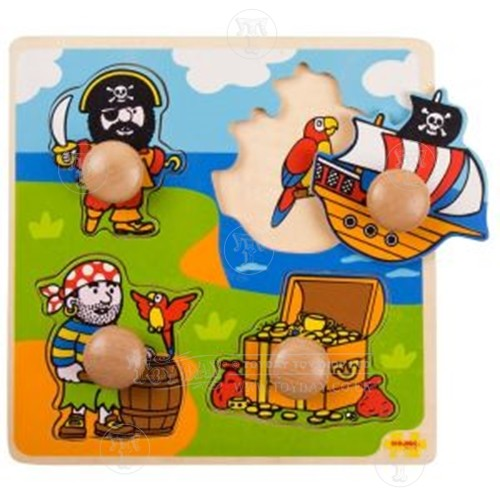 Wooden Pirate Lift Out Puzzle