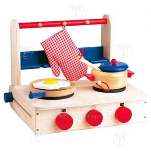 Toyday Traditional & Classic Toys  Wooden Folding Play Cooker