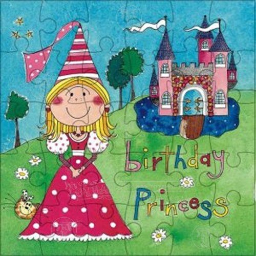 princess card and jigsaw  discontinued, Birthday card