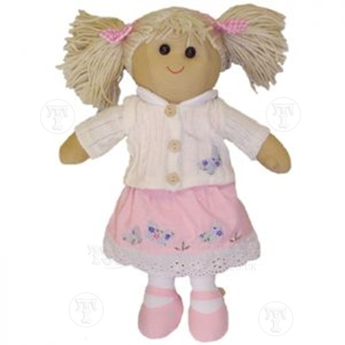 Butterfly Rag Doll with Skirt and Cardigan