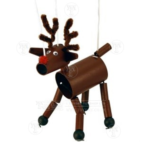 Rudolf the Reindeer Puppet Kit