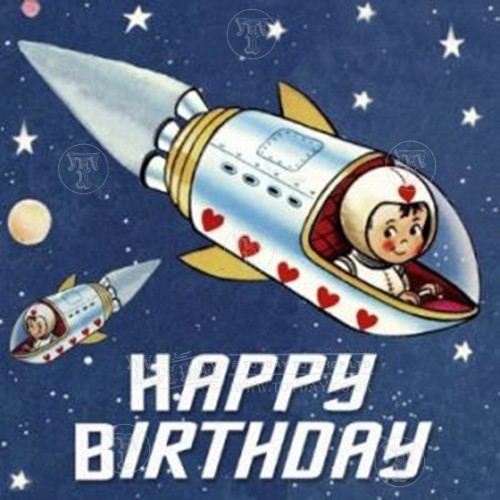 Space Boy Birthday Card