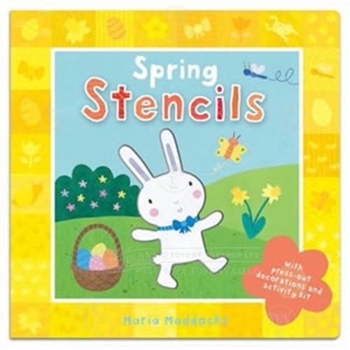 Spring Stencils in a Book