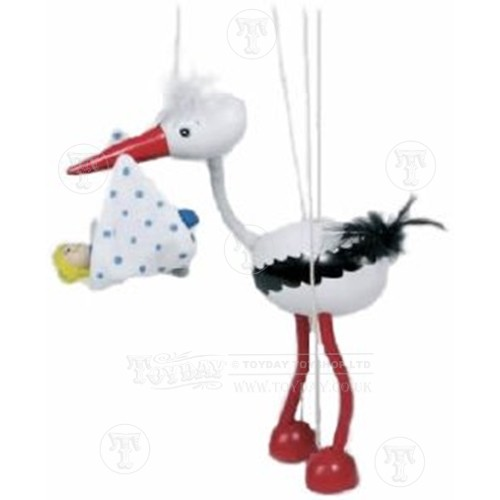 Stork with Baby Marrionette