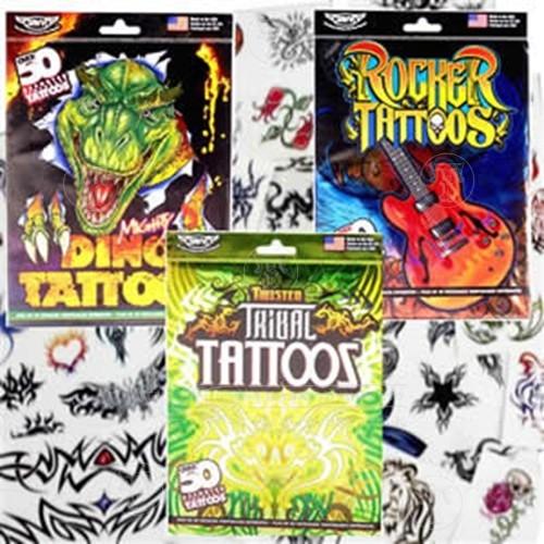 Set of 50 Temporary Tattoos