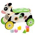 Wooden Cow Ride On