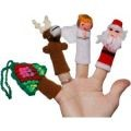 Knitted Christmas Finger Puppet