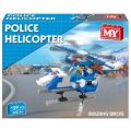 Police Helicopter Building Brick Set