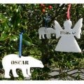 Angel or Polar Bear Personalised  Christmas Decoration