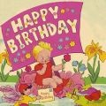 Vintage Dolly Birthday Card