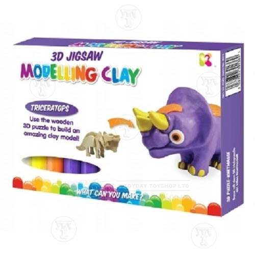 Toyday Traditional & Classic Toys Triceratops Dinosaur Clay Kit